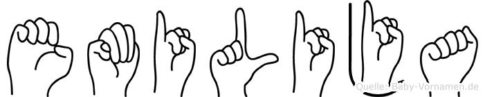 Emilija in Fingersprache für Gehörlose