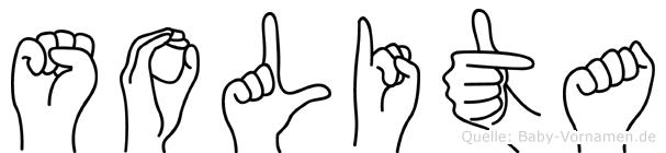 Solita in Fingersprache für Gehörlose