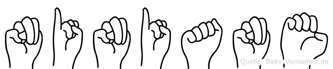 Niniane im Fingeralphabet der Deutschen Gebärdensprache