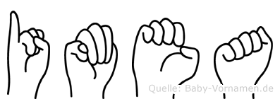 Imea im Fingeralphabet der Deutschen Gebärdensprache