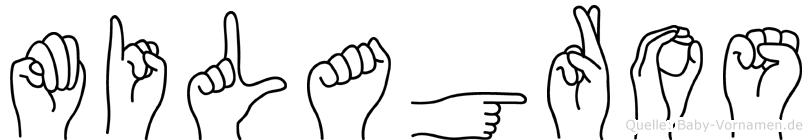 Milagros im Fingeralphabet der Deutschen Gebärdensprache
