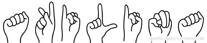 Akilina im Fingeralphabet der Deutschen Gebärdensprache