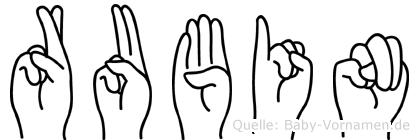 Rubin in Fingersprache für Gehörlose