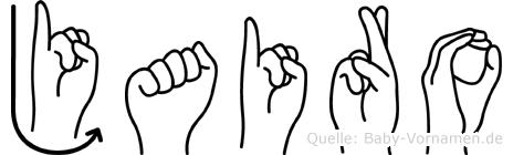 Jairo im Fingeralphabet der Deutschen Gebärdensprache