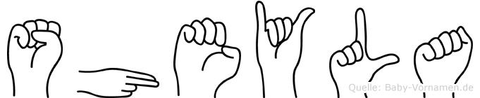 Sheyla in Fingersprache für Gehörlose