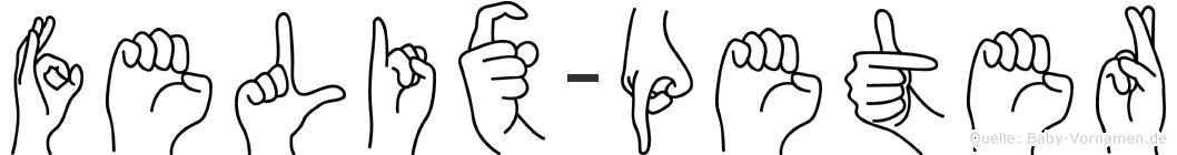 Felix-Peter im Fingeralphabet der Deutschen Gebärdensprache