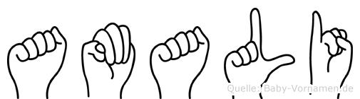 Amali in Fingersprache für Gehörlose