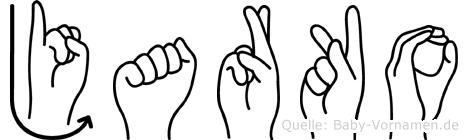 Jarko im Fingeralphabet der Deutschen Gebärdensprache