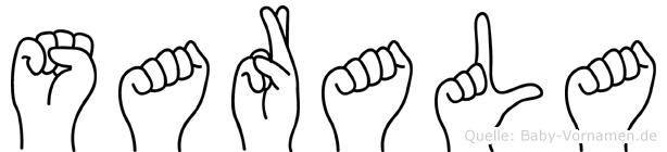 Sarala in Fingersprache für Gehörlose
