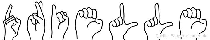 Drielle im Fingeralphabet der Deutschen Gebärdensprache