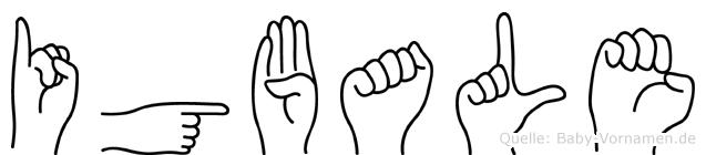 Igbale im Fingeralphabet der Deutschen Gebärdensprache