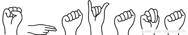 Shayana in Fingersprache für Gehörlose