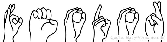 Feodor im Fingeralphabet der Deutschen Gebärdensprache