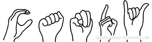 Candy in Fingersprache für Gehörlose