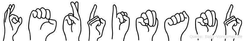 Ferdinand im Fingeralphabet der Deutschen Gebärdensprache