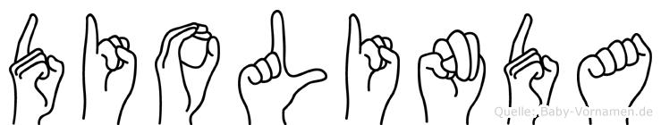 Diolinda im Fingeralphabet der Deutschen Gebärdensprache