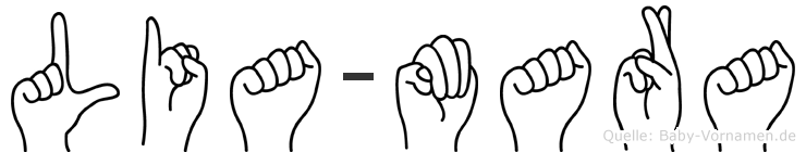 Lia-Mara im Fingeralphabet der Deutschen Gebärdensprache
