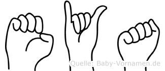 Eya in Fingersprache für Gehörlose