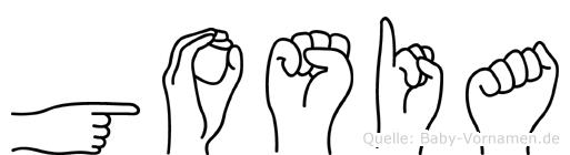 Gosia in Fingersprache für Gehörlose