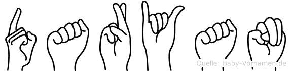 Daryan im Fingeralphabet der Deutschen Gebärdensprache