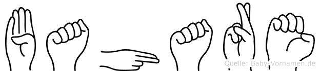 Bahare in Fingersprache für Gehörlose