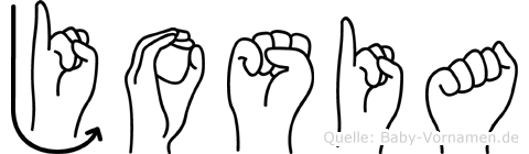 Josia in Fingersprache für Gehörlose