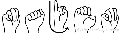 Najem in Fingersprache für Gehörlose