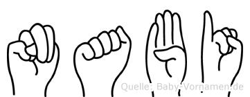 Nabi in Fingersprache für Gehörlose