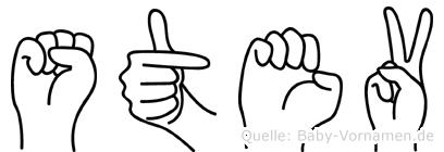 Stev im Fingeralphabet der Deutschen Gebärdensprache