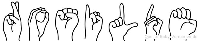 Rosilde in Fingersprache für Gehörlose