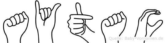 Aytac in Fingersprache für Gehörlose