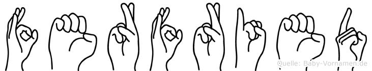 Ferfried in Fingersprache für Gehörlose