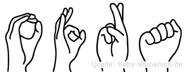 Ofra in Fingersprache für Gehörlose