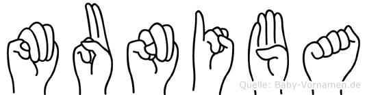 Muniba in Fingersprache für Gehörlose