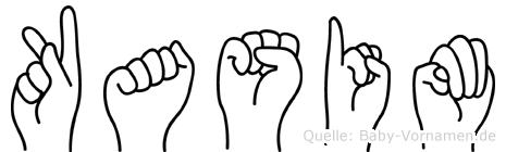Kasim im Fingeralphabet der Deutschen Gebärdensprache