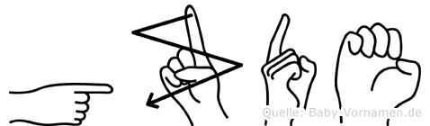 Gözde in Fingersprache für Gehörlose