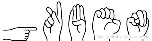 Gökben im Fingeralphabet der Deutschen Gebärdensprache