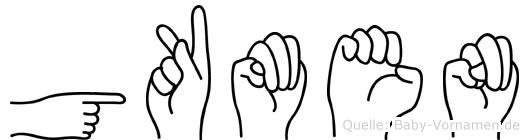 Gökmen in Fingersprache für Gehörlose