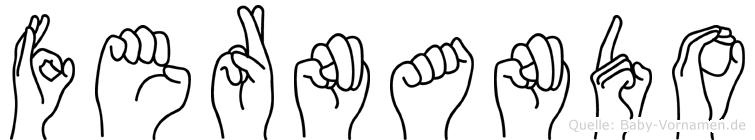 Fernando im Fingeralphabet der Deutschen Gebärdensprache