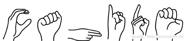 Cahide in Fingersprache für Gehörlose