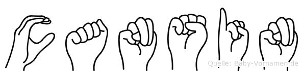 Cansin im Fingeralphabet der Deutschen Gebärdensprache
