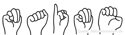 Naime in Fingersprache für Gehörlose