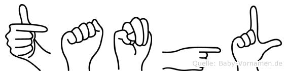 Tangül im Fingeralphabet der Deutschen Gebärdensprache