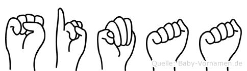 Simaa in Fingersprache für Gehörlose
