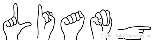 Liang in Fingersprache für Gehörlose