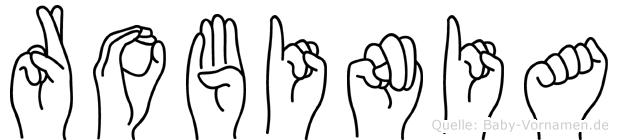 Robinia in Fingersprache für Gehörlose