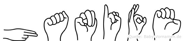 Hanife in Fingersprache für Gehörlose