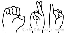 Eri im Fingeralphabet der Deutschen Gebärdensprache