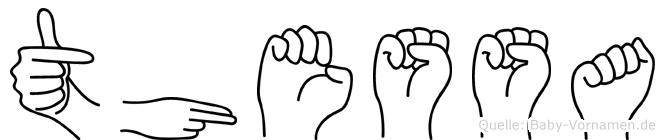 Thessa im Fingeralphabet der Deutschen Gebärdensprache