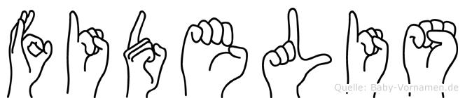 Fidelis im Fingeralphabet der Deutschen Gebärdensprache